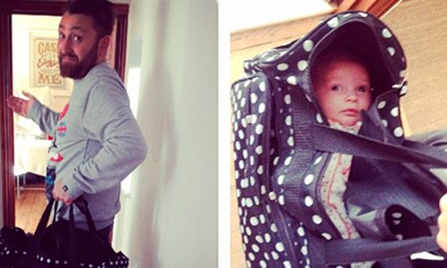 This probably isn't what you meant when you told your husband to pack the baby bag