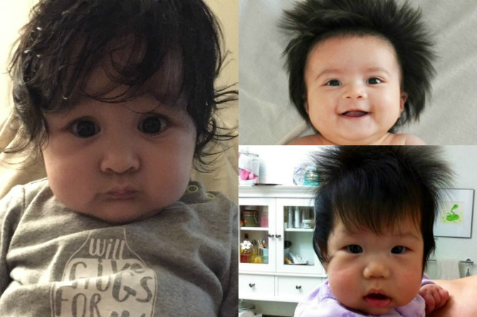 23 Ridiculously adorable babies with full heads of hair