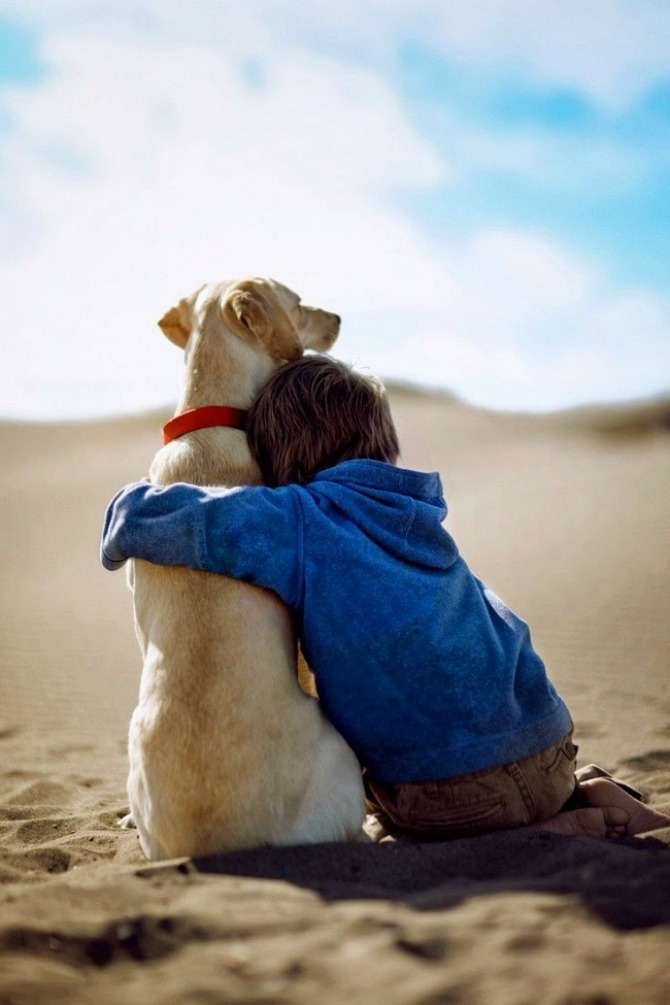 Nothing is quite as sweet as a boy and his dog