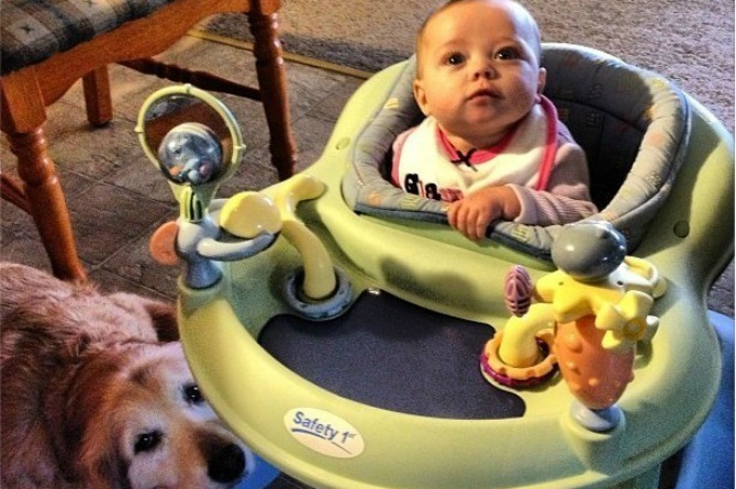30 Ridiculously cute pictures babies and their dogs
