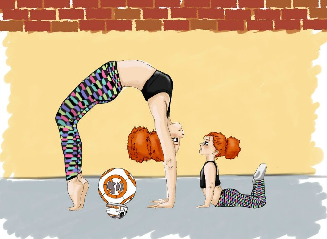 Mommy-daughter Yoga