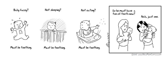 The seemingly never-ending period of teething