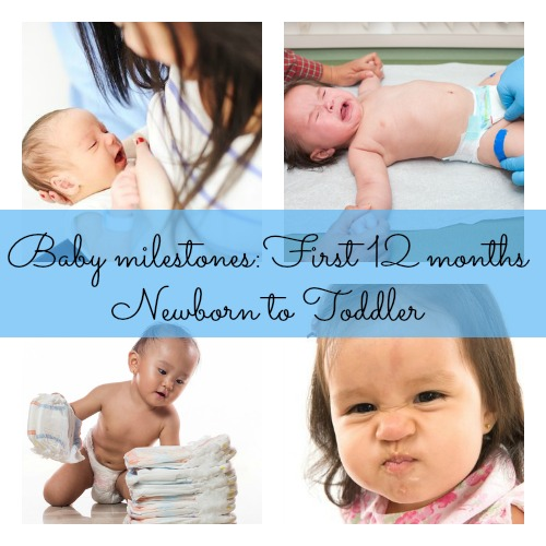 Your babys milestones from 1 month old to 12 months old