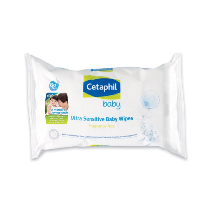 For baby's soft bottom: Cetaphil Baby Ultra Sensitive Baby Wipes