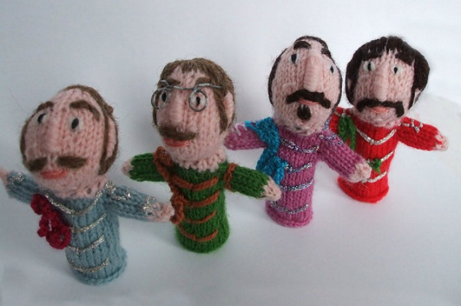 Fab Four finger puppets