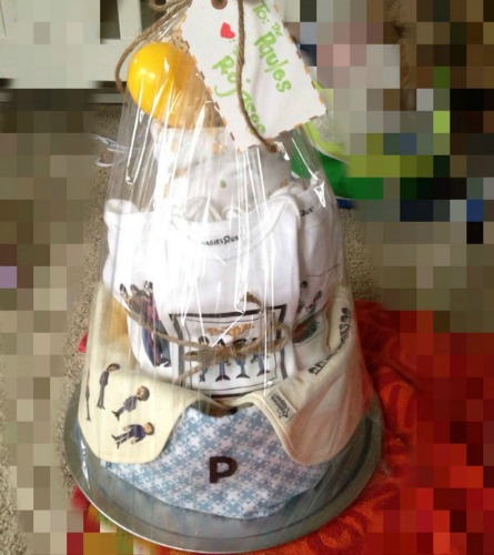 """""""All You Need is Love"""" Diaper Cake"""