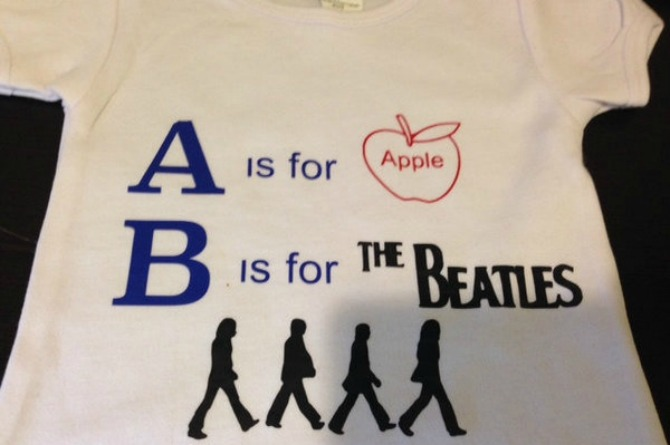 A is for Apple, B is for Beatles Tee