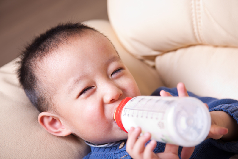 """""""Did you know that breast milk is the healthier option? Breastfed children are not sickly."""""""