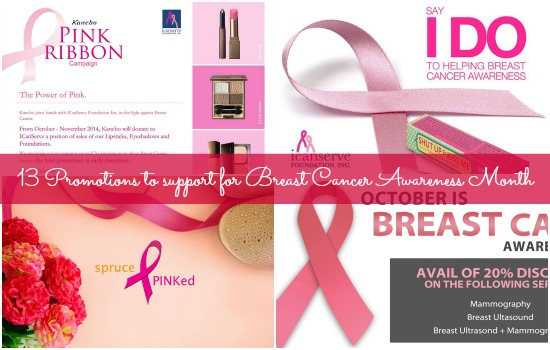 Breast Cancer Awareness Month promos in the Philippines