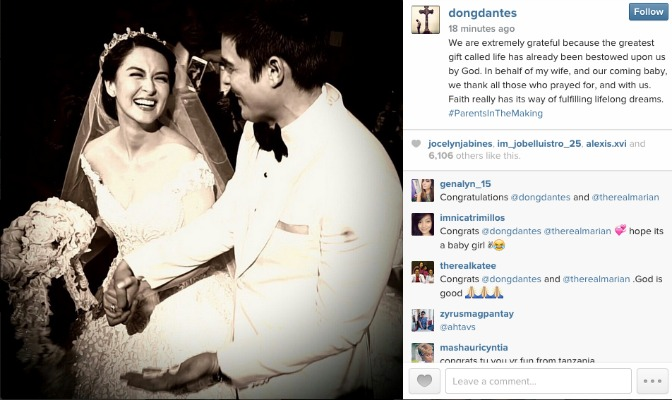 Dingdong Dantes and Marian Rivera expecting their first child!