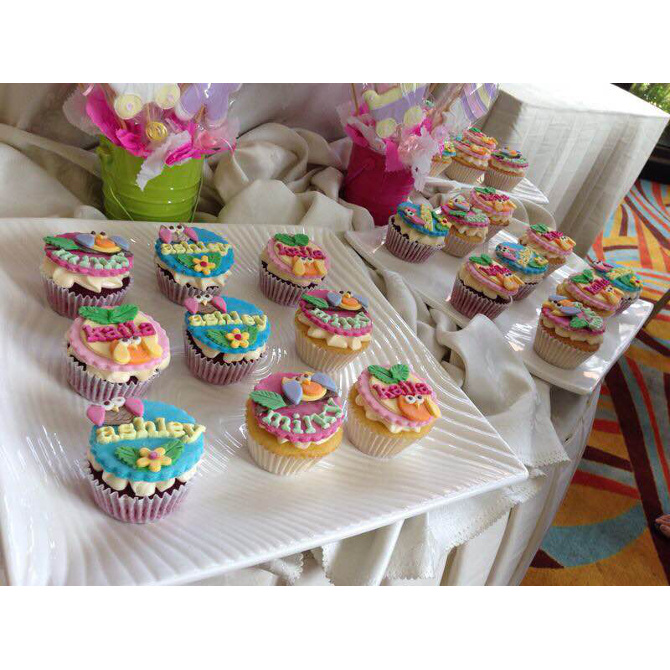 Owl cupcakes for Kaila's baptism