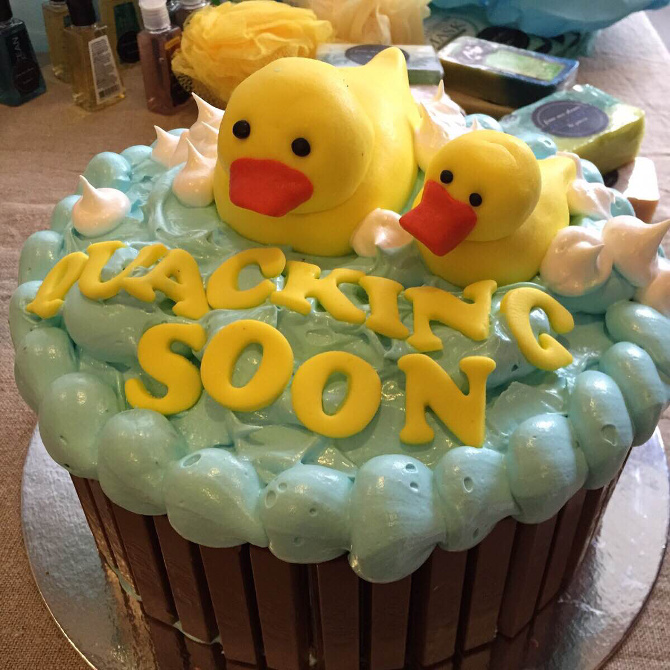 Thea and Jal's baby shower cake