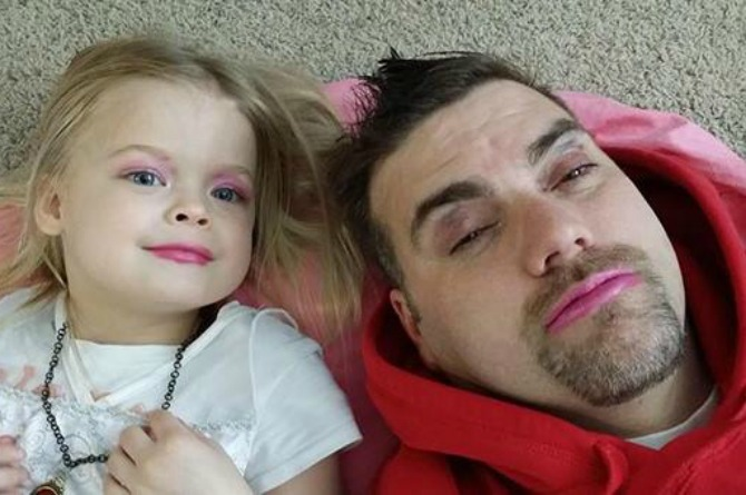 In case you needed reminding, do not fall asleep while your daughter has a ton of makeup in her possession