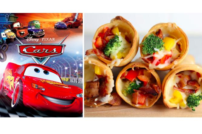 Pizza Cones with Cars