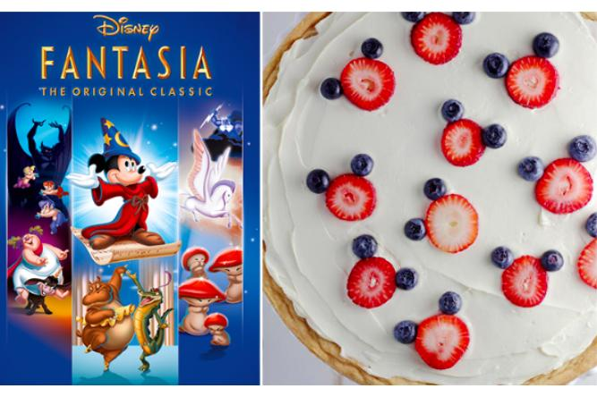 Mickey Mouse Dessert Pizza with Fantasia