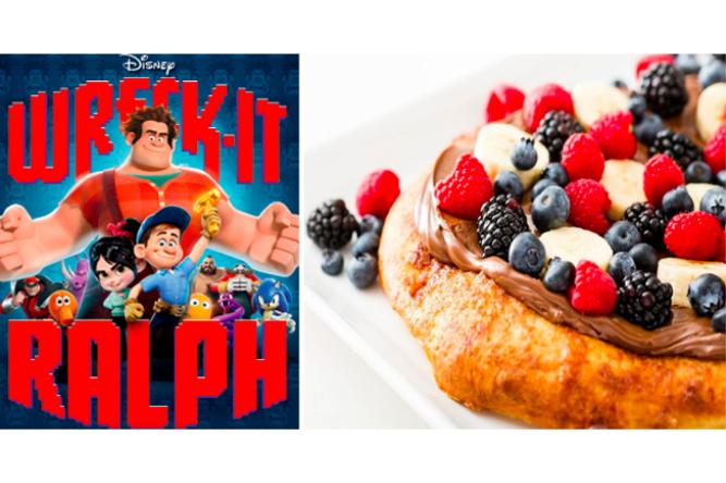 Nutella Breakfast Pizza with Wreck-it-Ralph
