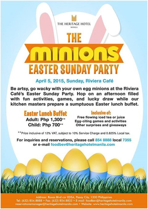 The Minions Easter Sunday Party at The Heritage Hotel