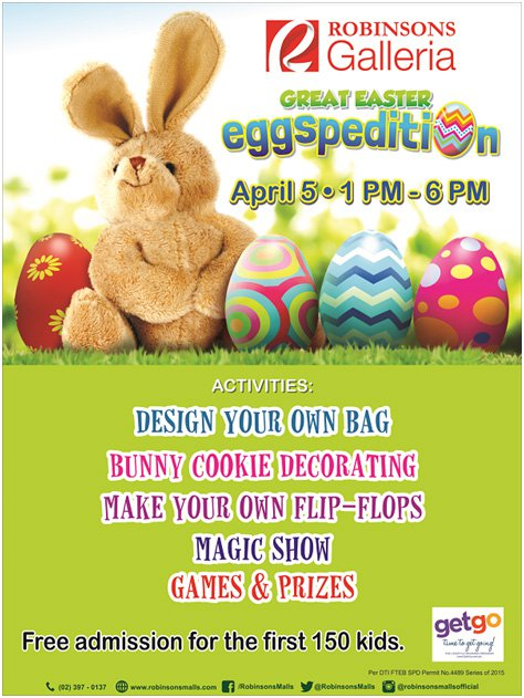 Great Easter Eggspedition at Robinsons Galleria
