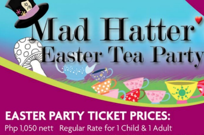 Crowne Plaza Manila Galleria's Madhatter's Easter Tea Party