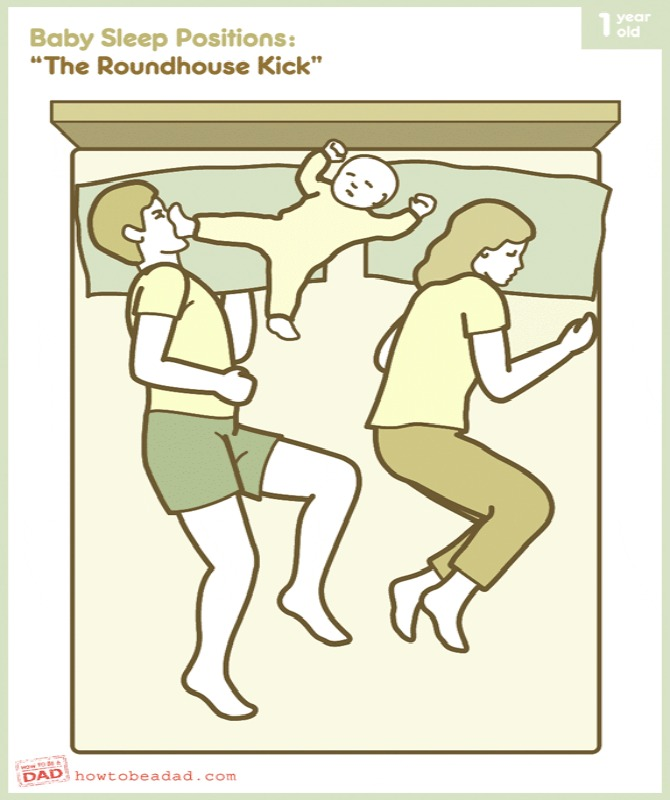 Funny sleeping positions all new parents can relate to