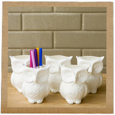 5. Domesticity Owl caddie (PHP 395)