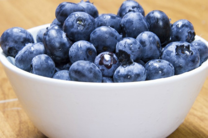 4. A cup of blueberries