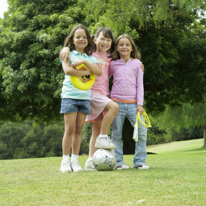 Allow your child to participate in outdoor activities