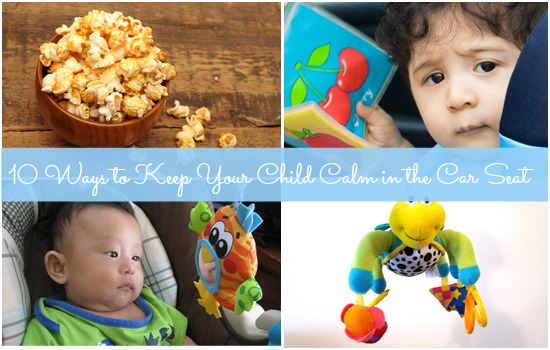 10 Ways to keep your child calm in a baby carrier or car seat