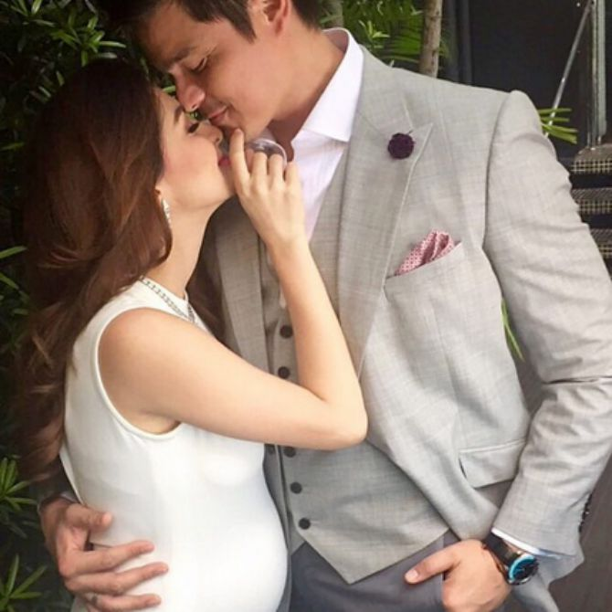 Taken during a photo shoot together with Dingdong.