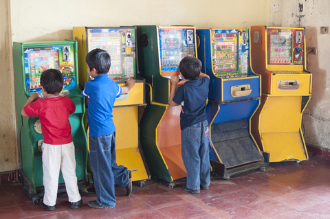 5. Hang out at the arcade (or do something that he really loves to do)