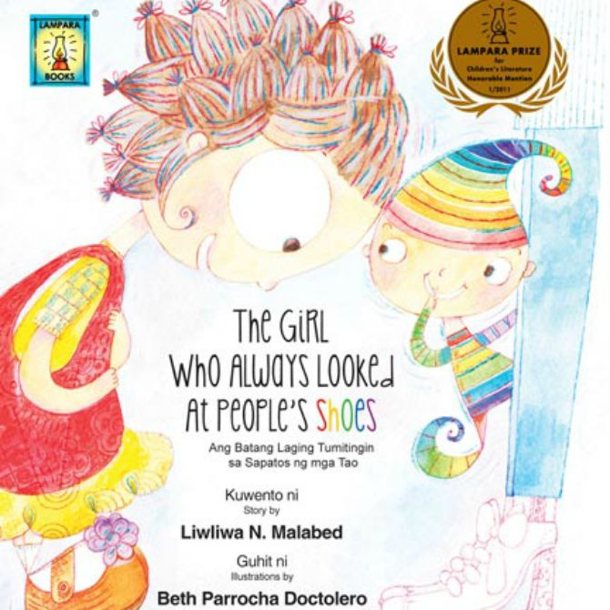 """8. """"The Girl Who Always Looked At People's Shoes"""" by Liwliwa N. Malabed (P74.75)"""