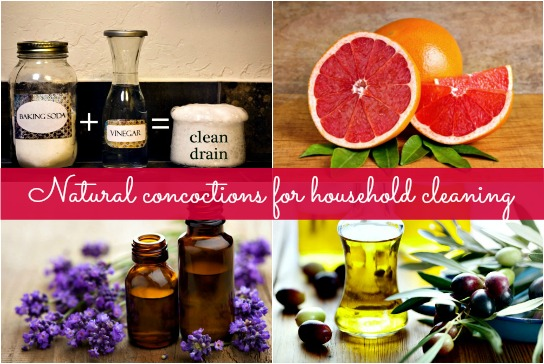 Natural concoctions for household cleaning