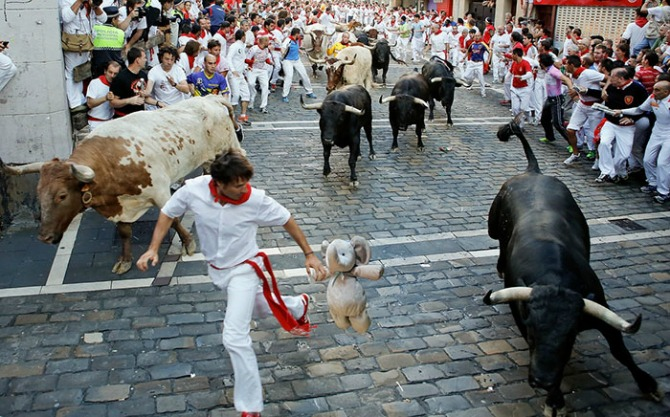 Living on the edge at the Running of the Bulls