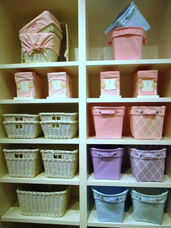 Assorted baskets and linings