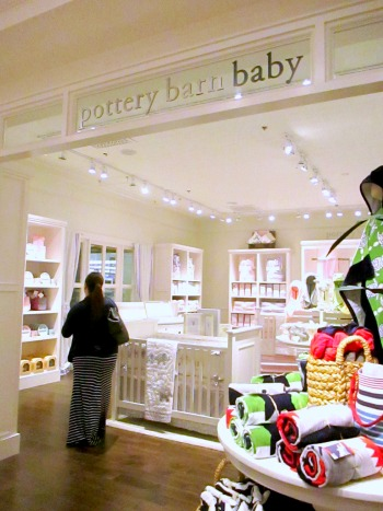 Entrance to Pottery Barn Baby