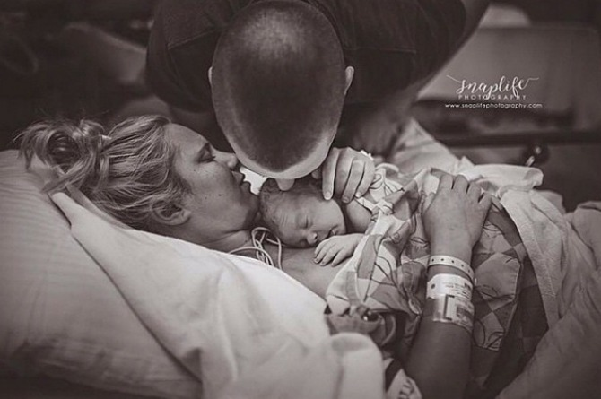 A dad's first kiss is truly special