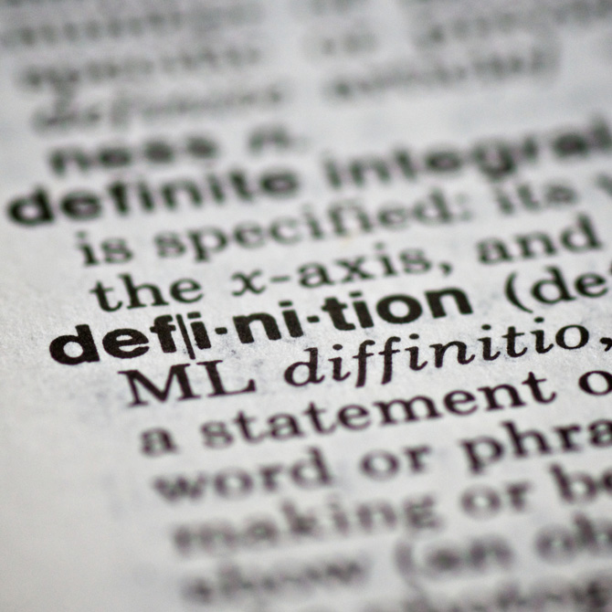 The solution: Vocabulary words