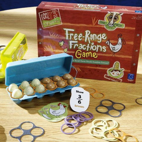 Educational Insights Free Range Fractions Game P1,579