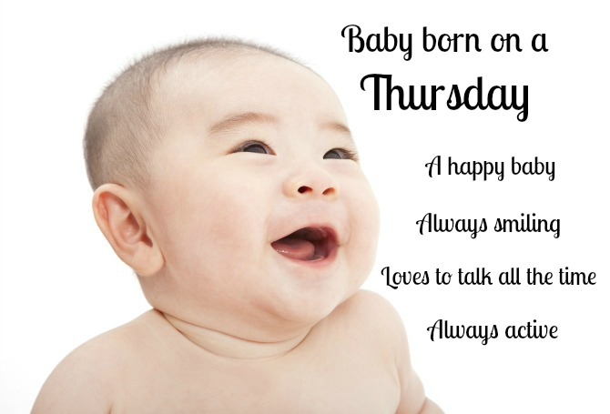 Those Thursday-born are naturally the life of the party!
