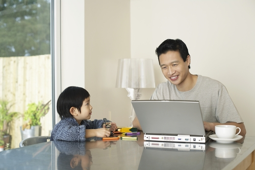 Working from home not so family-friendly