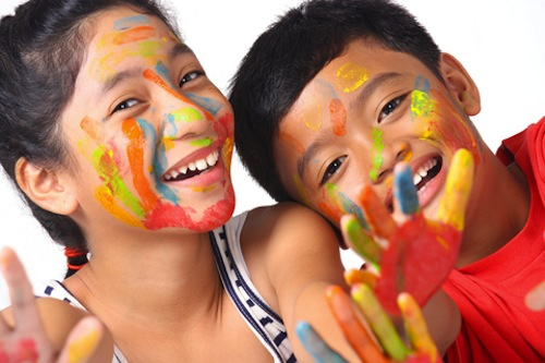 One of the best rainy day activities for kids — doing arts and crafts!