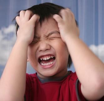 throwing tantrums