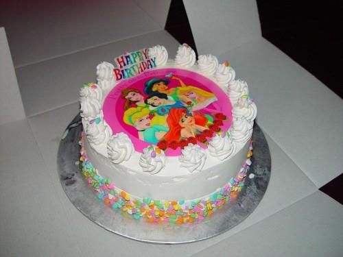 Princess ice cream cake e1363580232747 Princess birthday cake