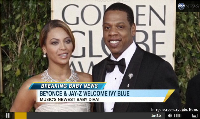 Beyonce and Jay-Z and their new baby Blue Ivy