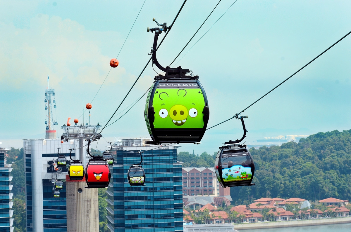 Angry Birds cable car in Singapore