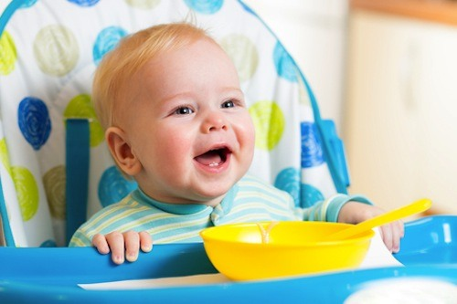 Try using dishes or bowls that have suction cups on the bottom, so it will be difficult for your toddler to throw them around.
