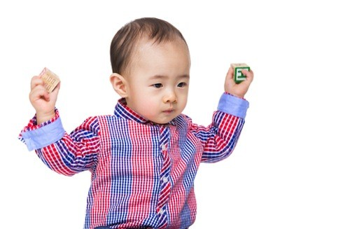 Remind your toddler that throwing things around is not a good way to express his anger.
