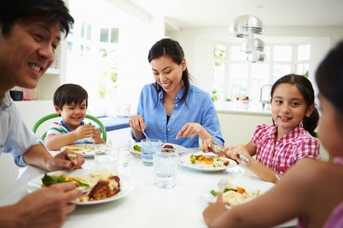 Encourage an atmosphere of open, gentle communication in your home and family. Mealtimes provide a perfect opportunity to communicate with your children.