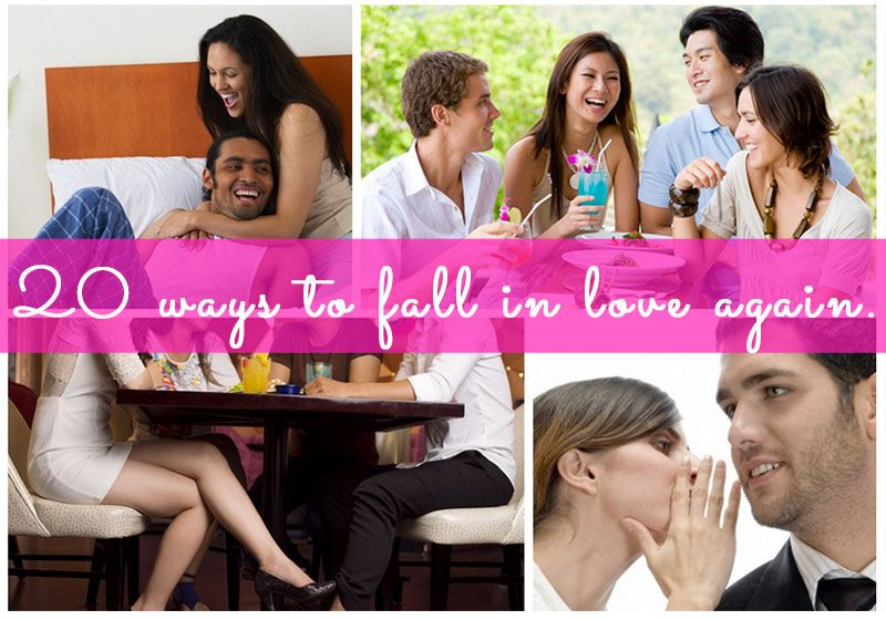 20 ways to fall in love with your spouse again