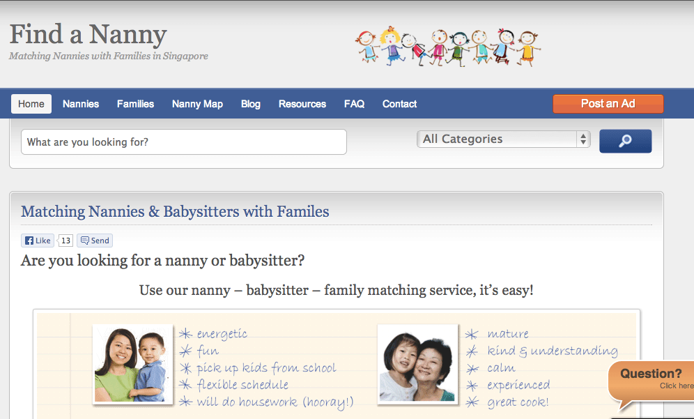 Part time babysitter or nanny in Singapore childcare and babysitting
